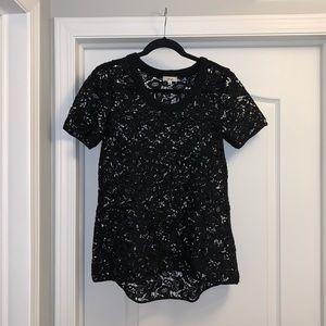 Aritzia Wilfred Long Lace shirt